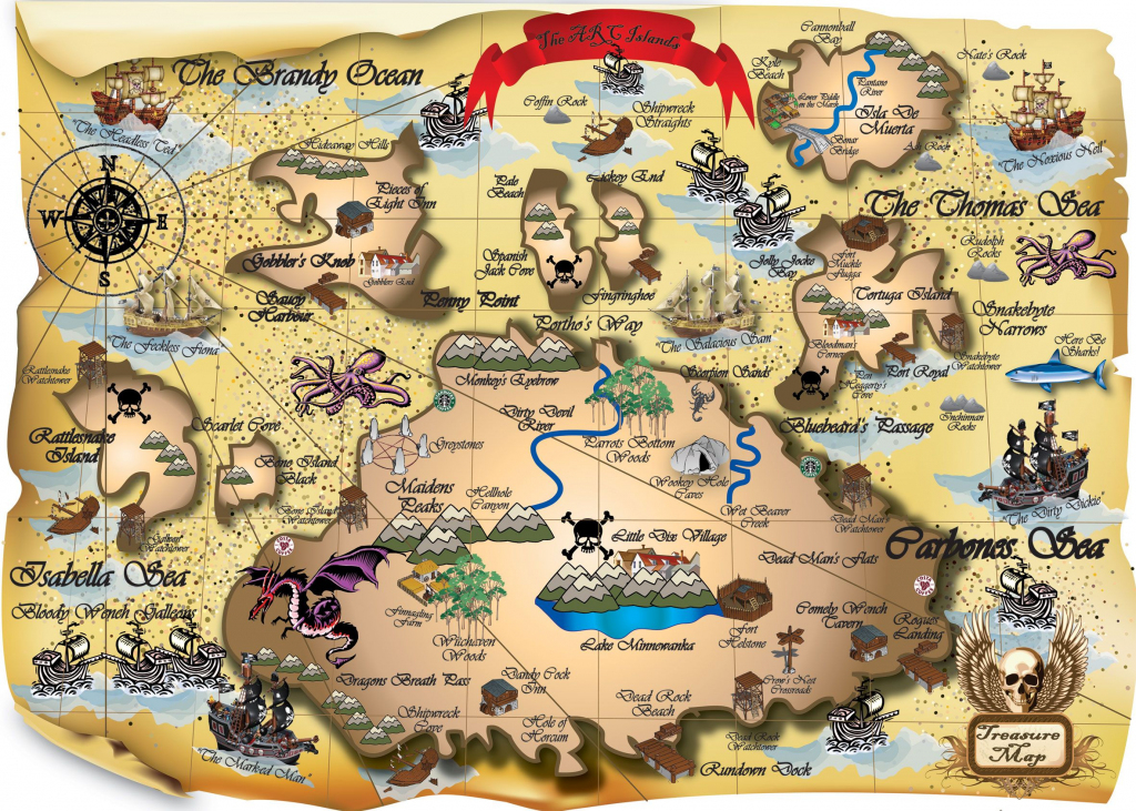 Easy Picture Of A Pirate Treasure Map 2 Printable My Blog | Map pertaining to Printable Pirate Maps To Print
