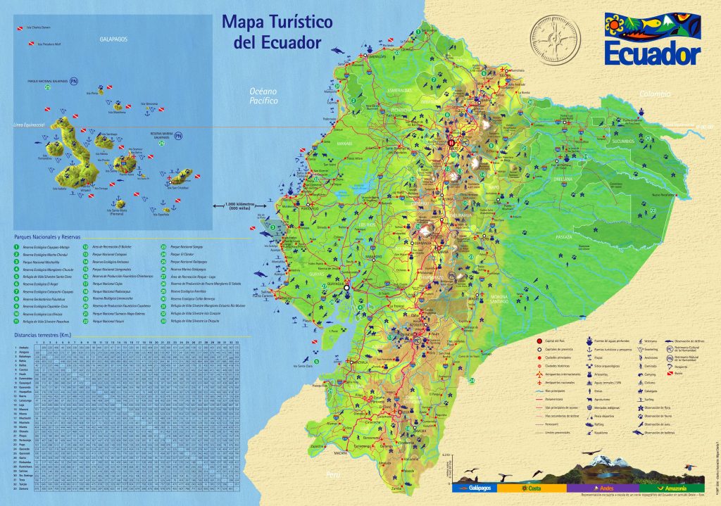 Ecuador Maps | Printable Maps Of Ecuador For Download for Printable Map Of Ecuador