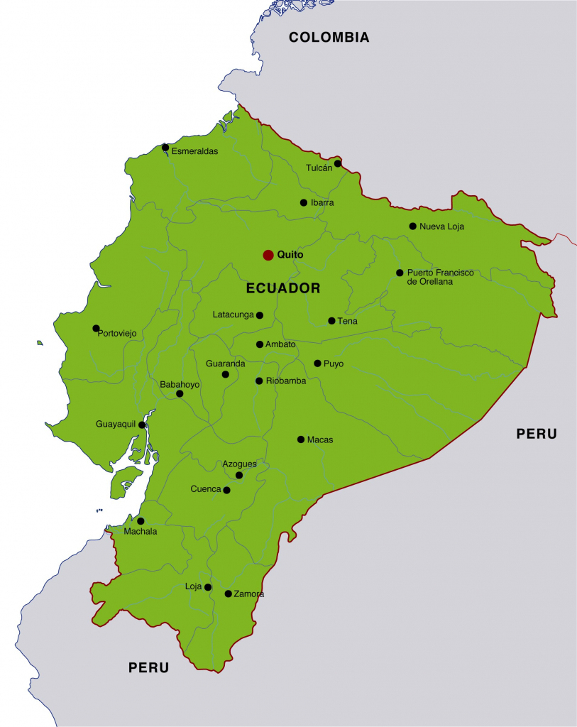 Ecuador Maps | Printable Maps Of Ecuador For Download inside Printable Map Of Colombia