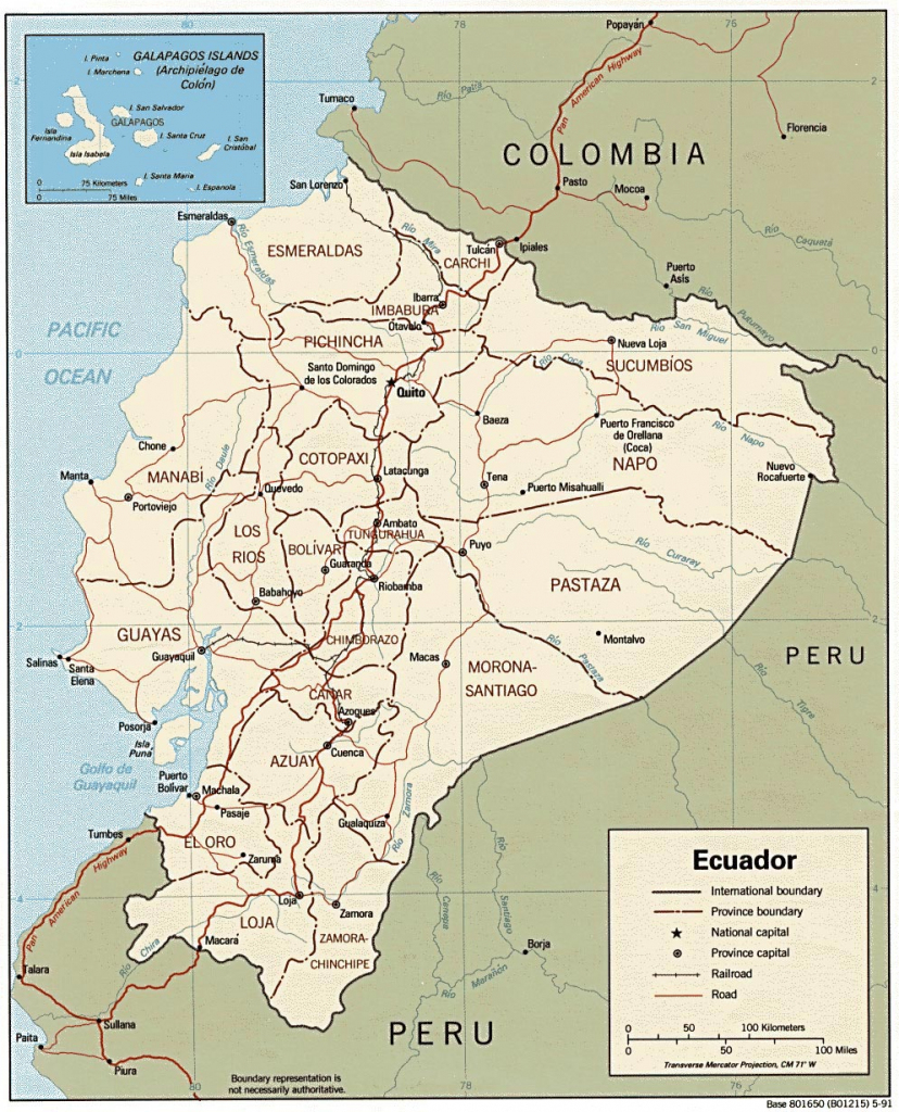 Ecuador Maps | Printable Maps Of Ecuador For Download throughout Printable Map Of Ecuador