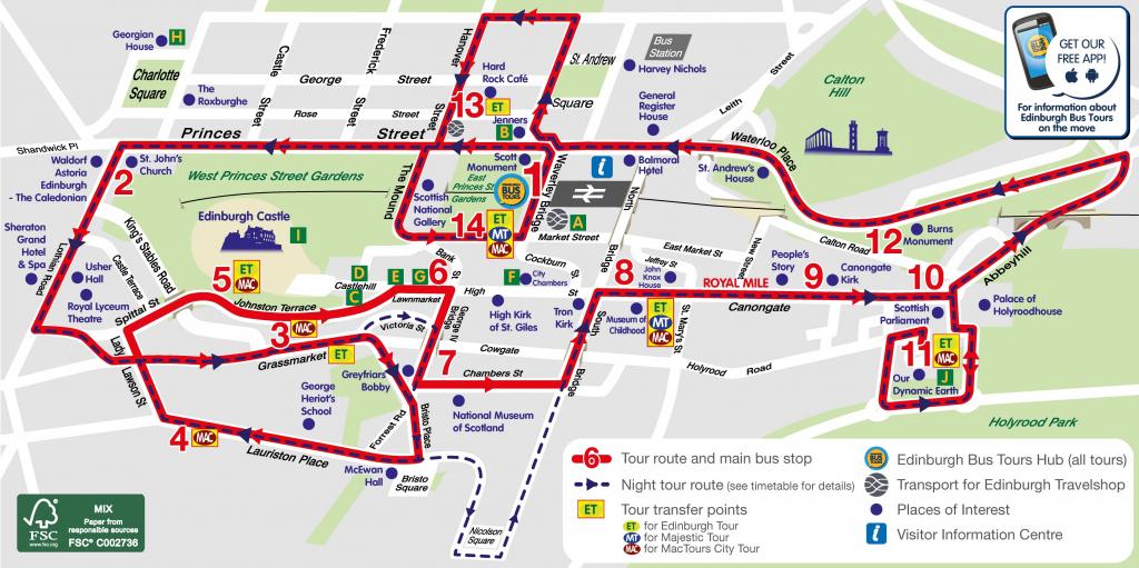 Edinburgh Attractions Map Pdf - Free Printable Tourist Map Edinburgh inside Edinburgh City Map Printable