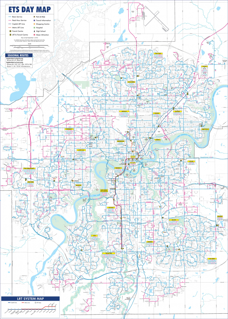 Edmonton Transport Map with Printable Map Of Edmonton