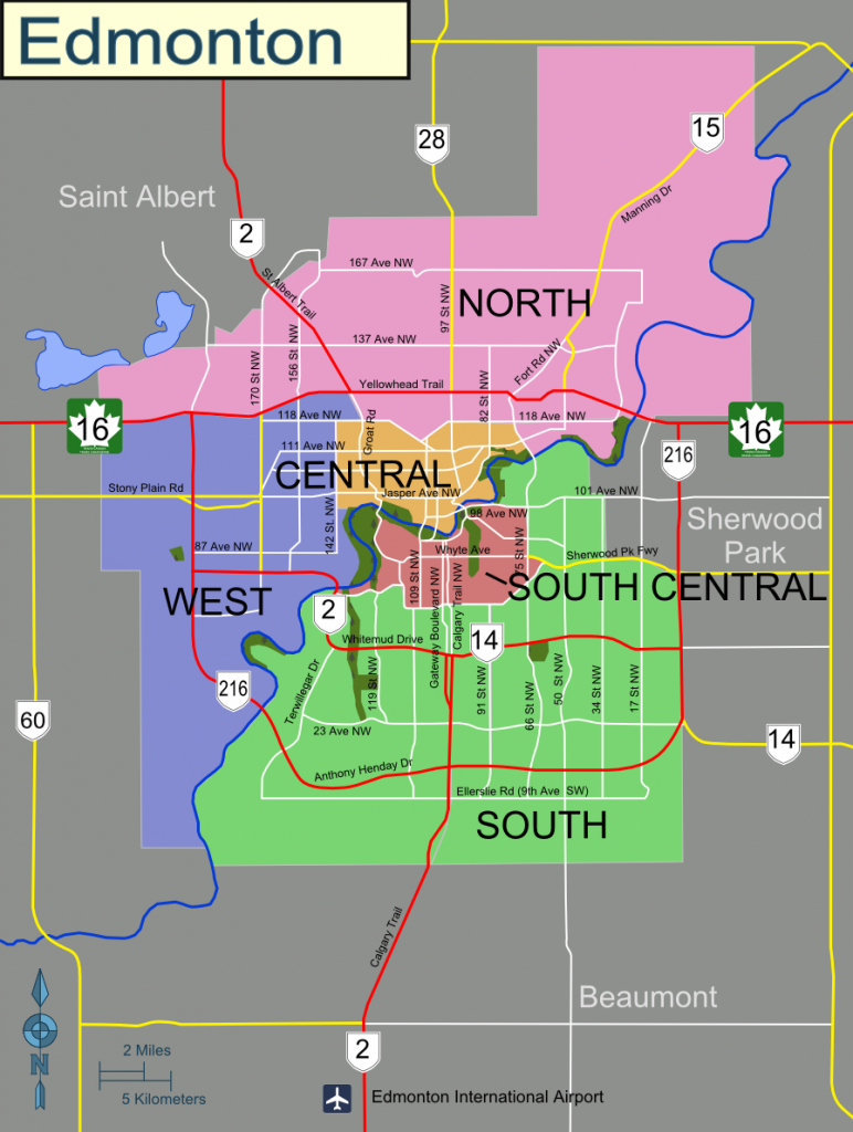 Edmonton – Travel Guide At Wikivoyage for Printable West Edmonton Mall Map