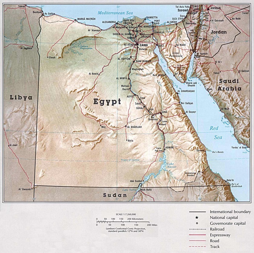 Egypt Maps | Printable Maps Of Egypt For Download pertaining to Printable Map Of Egypt
