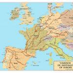 El Camino De Santiago Compostela Pilgrimage Map | El Camino In 2019 With Printable Map Of Camino De Santiago