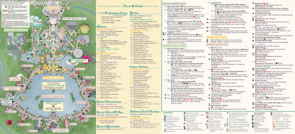 Epcot Map - Walt Disney World with Printable Epcot Map