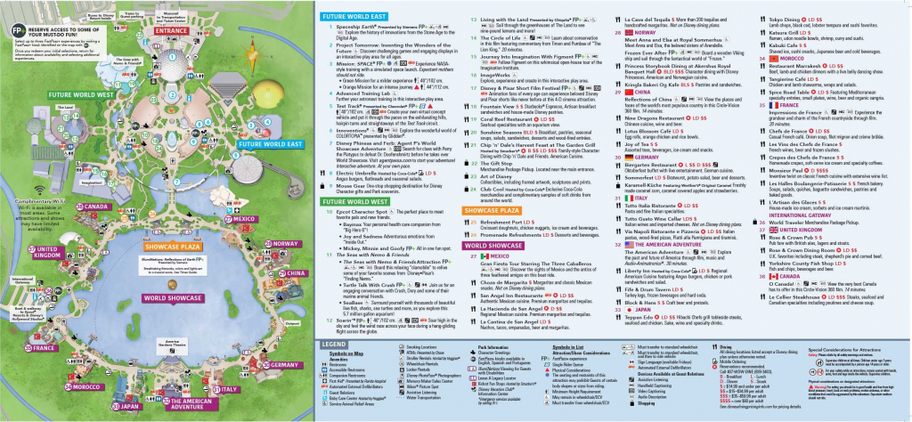 Epcot Map Walt Disney World Within Of Showcase 7 - World Wide Maps pertaining to Printable Epcot Map