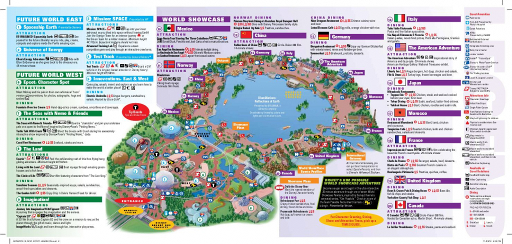 Epcot Map | Wdw -- Epcot | Epcot Map, Disney World Epcot Map, Disney Map throughout Epcot Park Map Printable