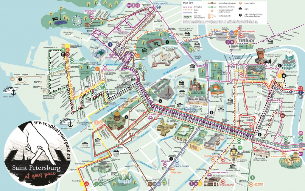 Essential Tourist Maps Of St. Petersburg (Pdf And Jpg) regarding Printable Tourist Map Of St Petersburg Russia