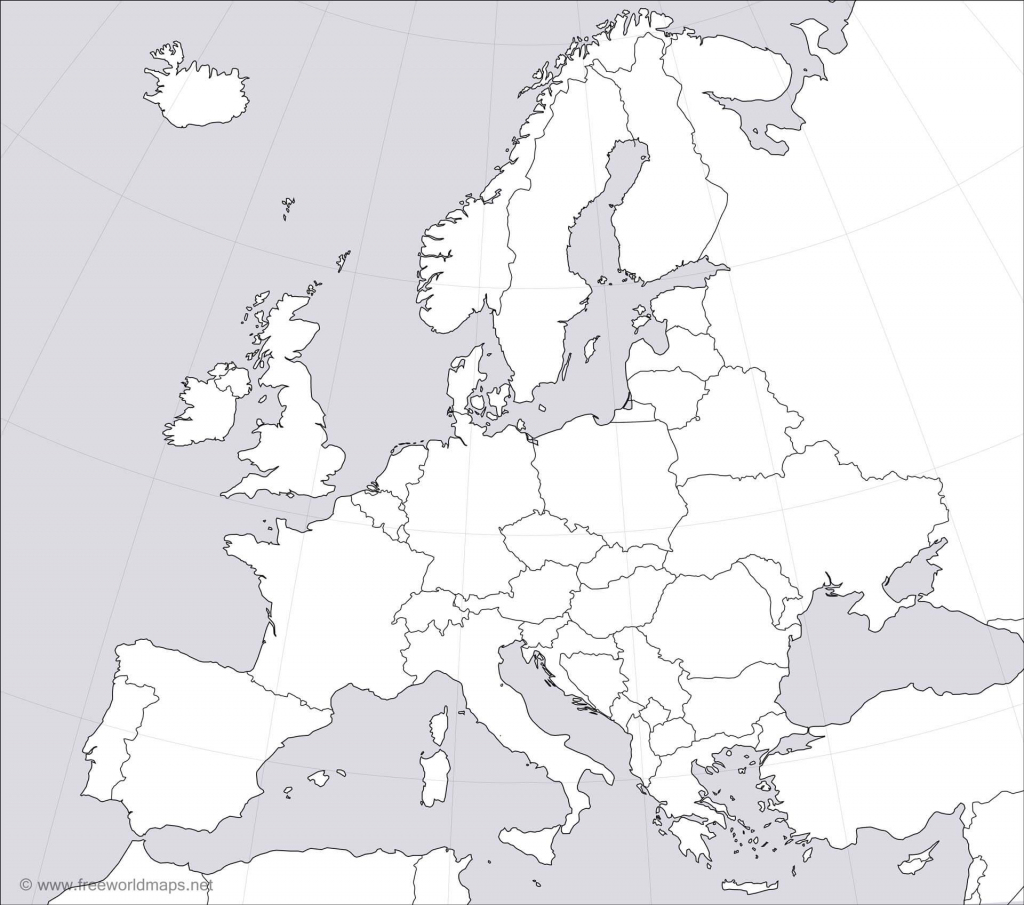 Europe Blank Map with Printable Blank Map Of Europe
