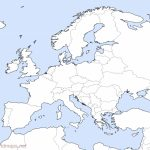 Europe Outline Maps  Freeworldmaps Throughout Europe Outline Map Printable