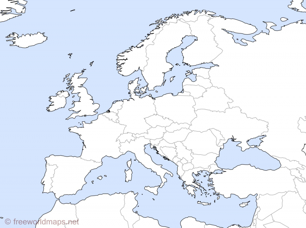 Europe Outline Maps -Freeworldmaps throughout Europe Outline Map Printable