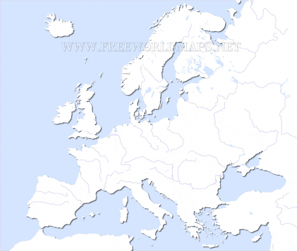 Europe Physical Map – Freeworldmaps intended for Printable Blank Physical Map Of Europe