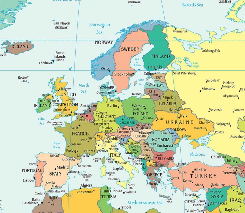 Europe Political Map, Political Map Of Europe - Worldatlas regarding Printable Political Map Of Europe