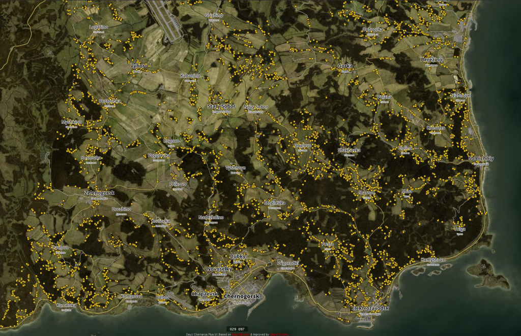 Exp.] Dayz 0.62: Interactive Loot Map Updated To 0.62 Version! : Dayz regarding Printable Dayz Standalone Map