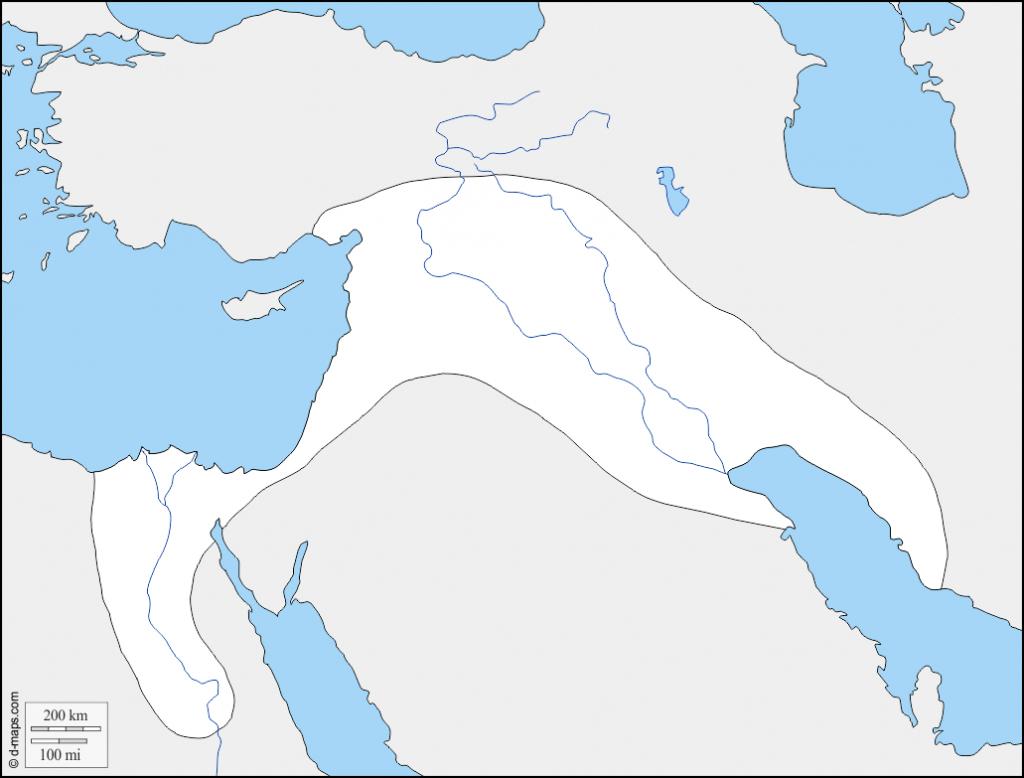 Fertile Crescent Map Printable – Printall pertaining to Fertile Crescent Map Printable