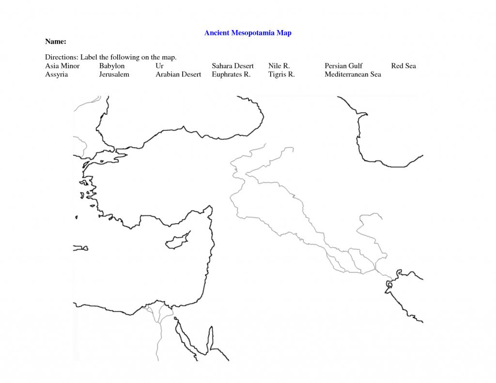Fertile Crescent Map Worksheet - Google Search | Ssa | Map pertaining to Fertile Crescent Map Printable