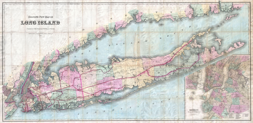 File:1880 Colton Pocket Map Of Long Island - Geographicus throughout Printable Map Of Long Island Ny