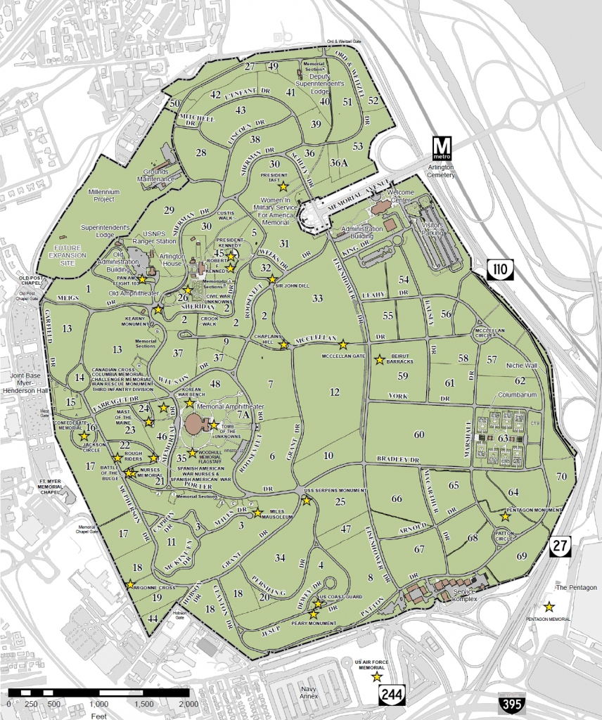 File:arlington National Cemetery Map - 2013 - Wikimedia Commons within Printable Map Of Arlington National Cemetery
