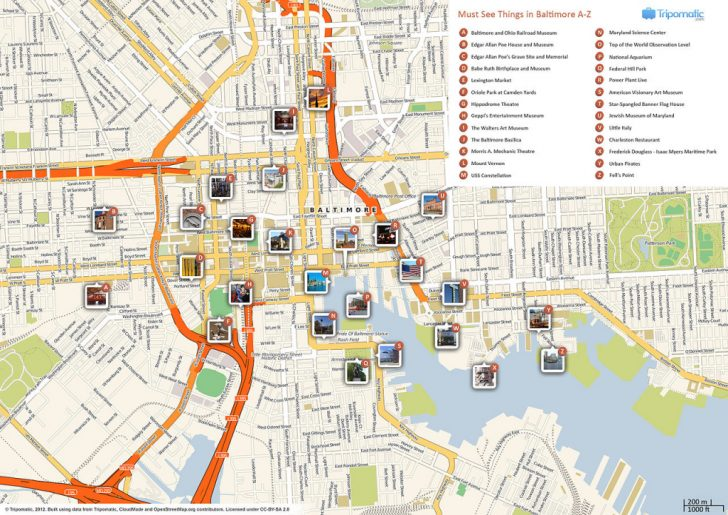 Warsaw Tourist Map Printable
