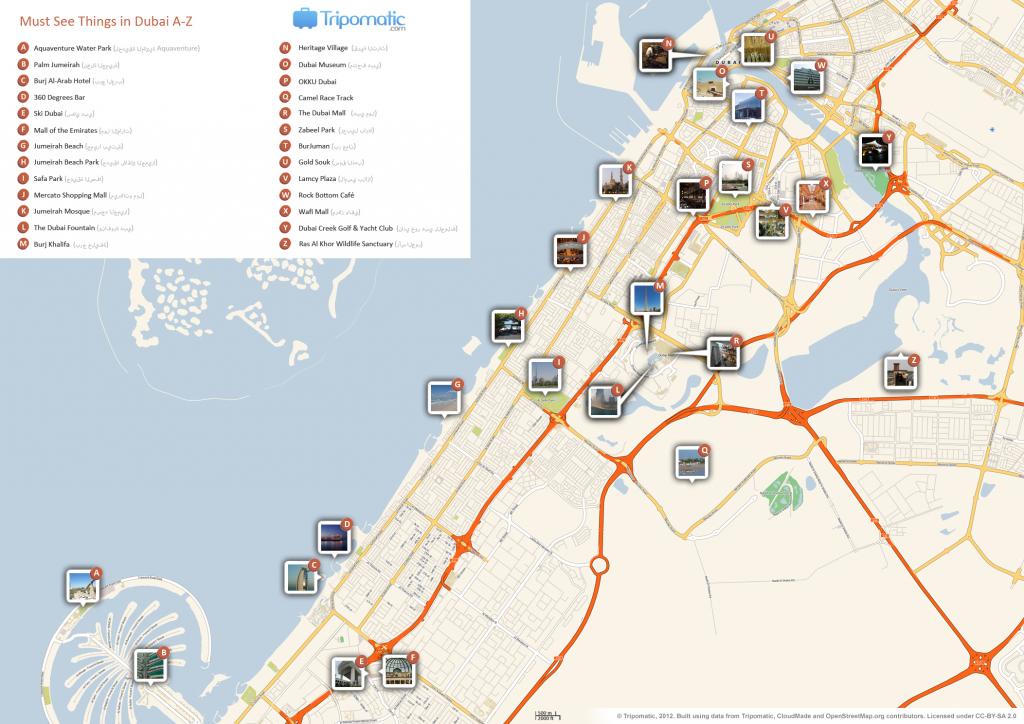 File:dubai Printable Tourist Attractions Map - Wikimedia Commons within Printable Map Of Dubai