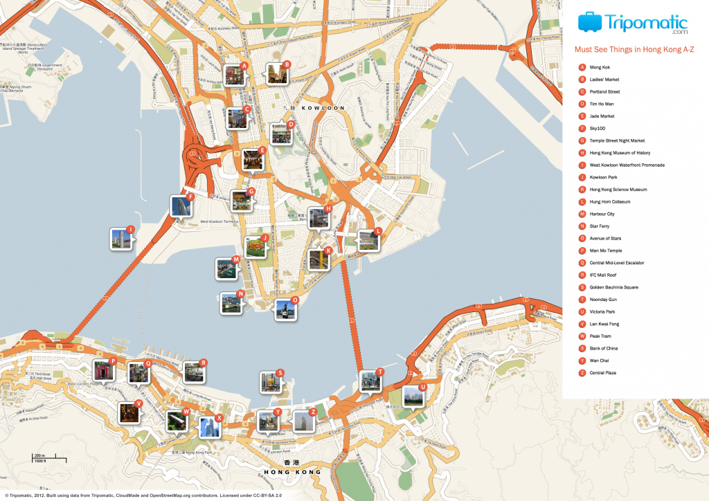File:hong Kong Printable Tourist Attractions Map - Wikimedia Commons pertaining to Printable Map Of Hong Kong