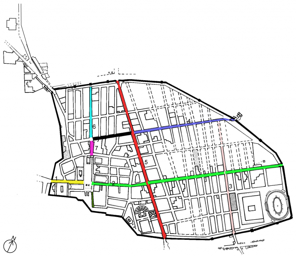 File:map Main Roads Pompeii - Wikimedia Commons regarding Printable Map Of Pompeii