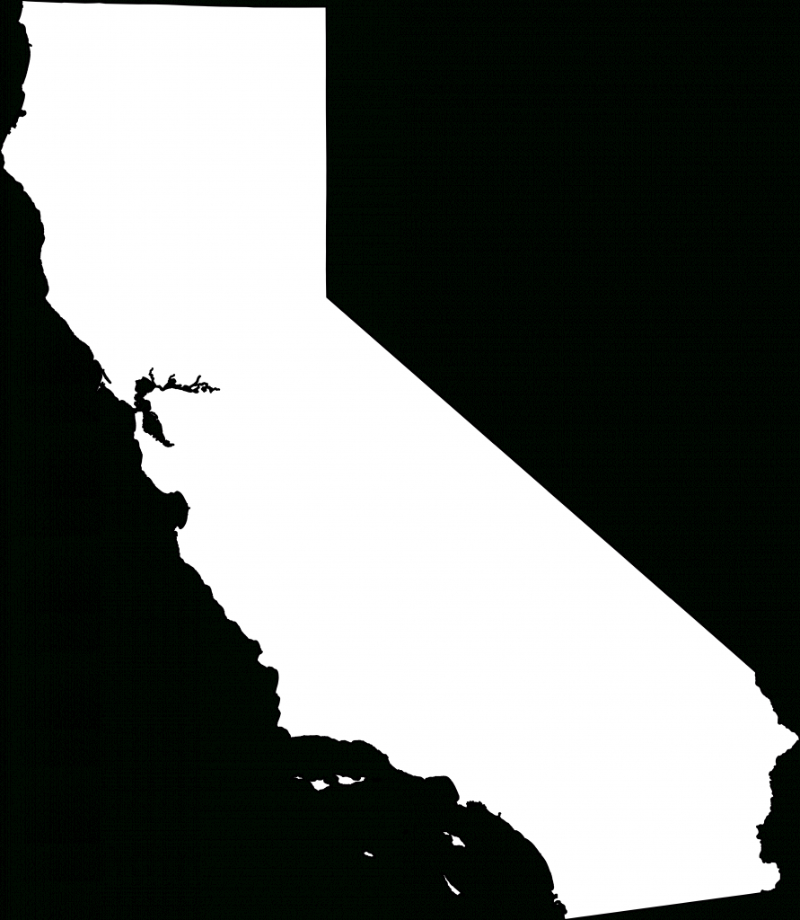 File:map Of California Outline.svg - Wikimedia Commons intended for California Outline Map Printable