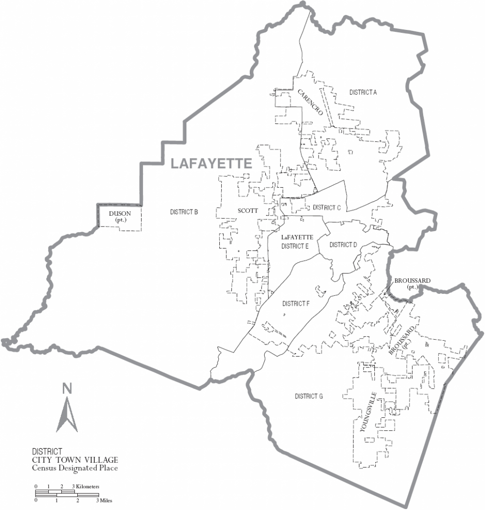 File:map Of Lafayette Parish Louisiana With Municipal And District in Printable Map Of Lafayette La