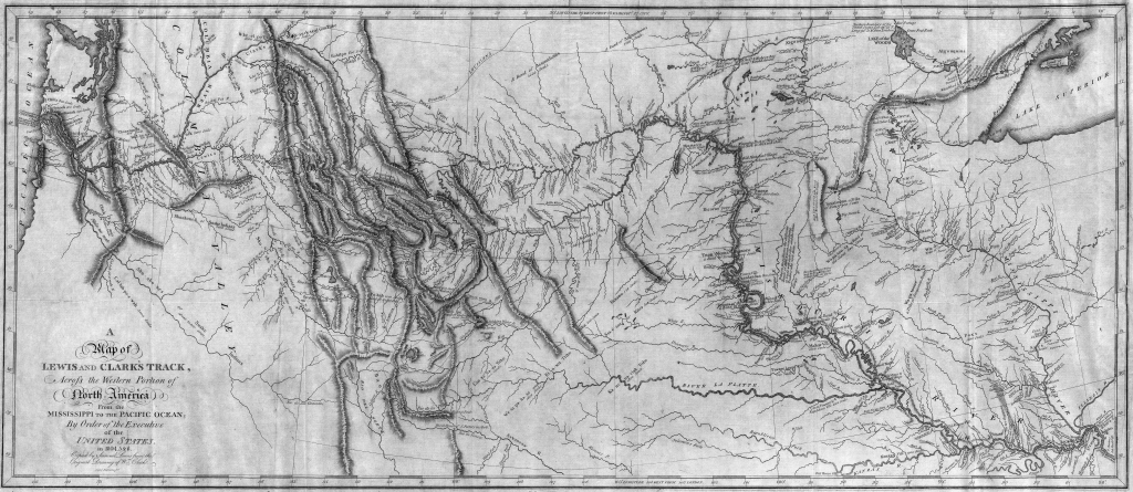 File:map Of Lewis And Clark's Track, Across The Western Portion Of pertaining to Lewis And Clark Printable Map