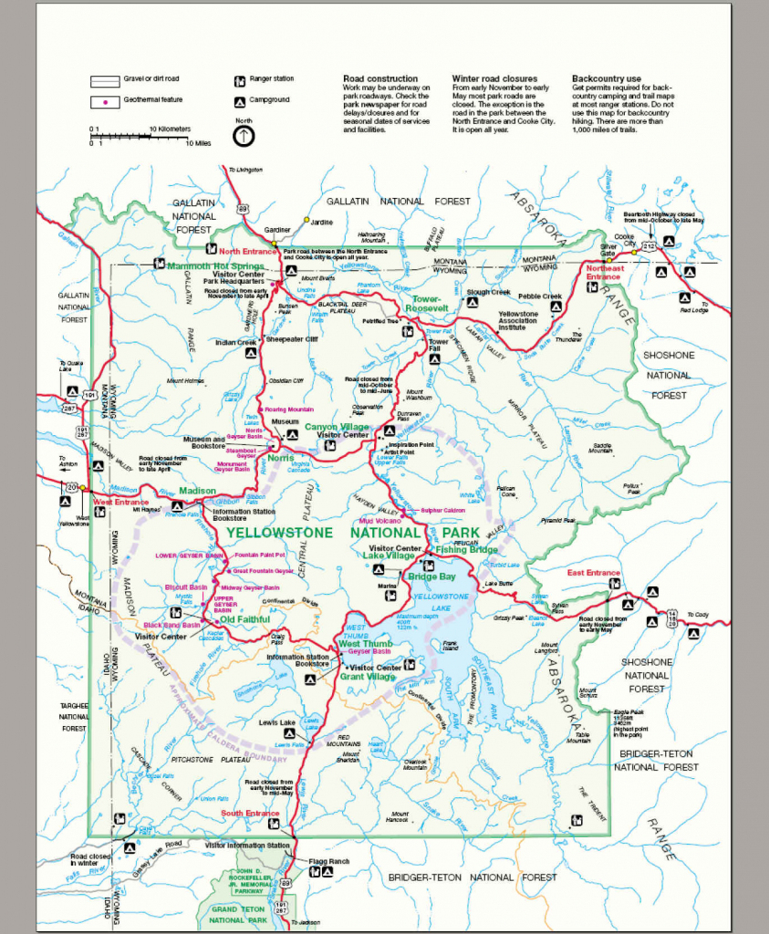 File:map Yellowstone National Park - Wikimedia Commons with Printable Map Of Yellowstone National Park