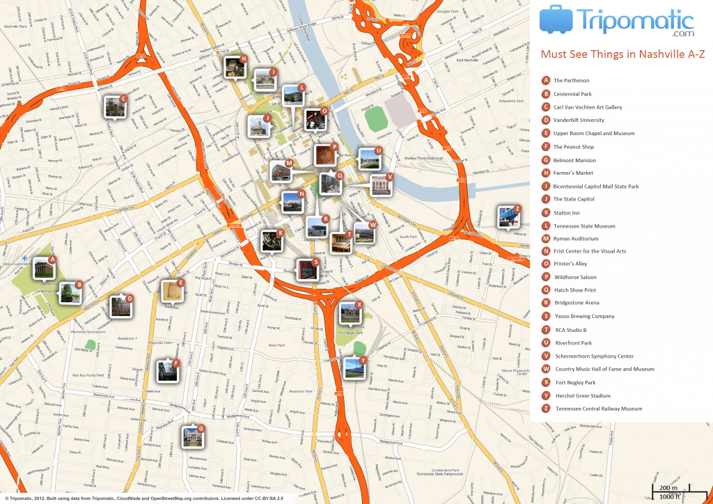 File:nashville Printable Tourist Attractions Map - Wikimedia Commons in Printable Map Of Nashville Tn