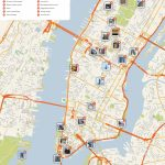File:new York Manhattan Printable Tourist Attractions Map Intended For Printable Map Of New York City