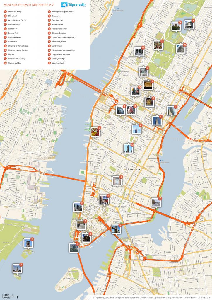 File:new York Manhattan Printable Tourist Attractions Map regarding Manhattan City Map Printable