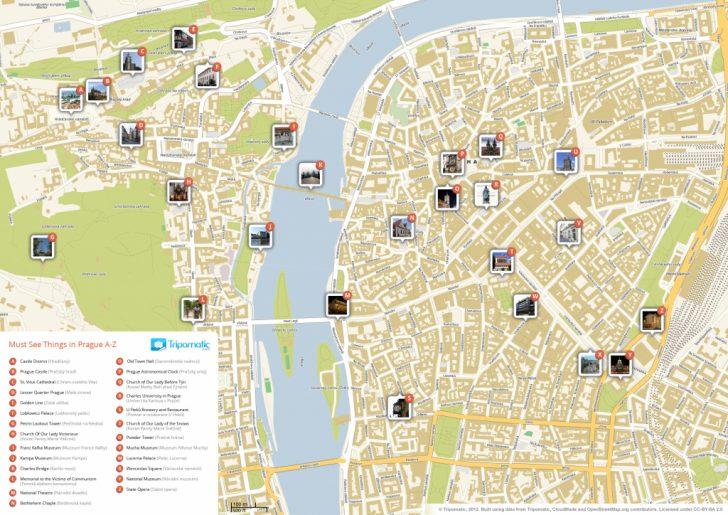 Printable Map Of Prague