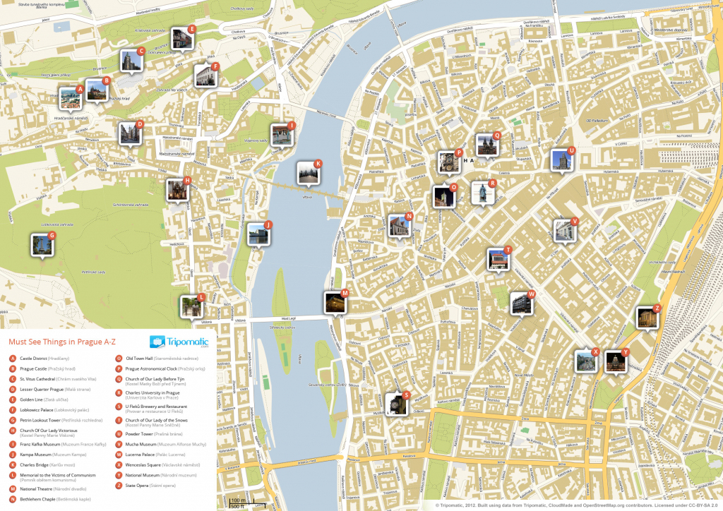 File:prague Printable Tourist Attractions Map - Wikimedia Commons throughout Printable Map Of Prague