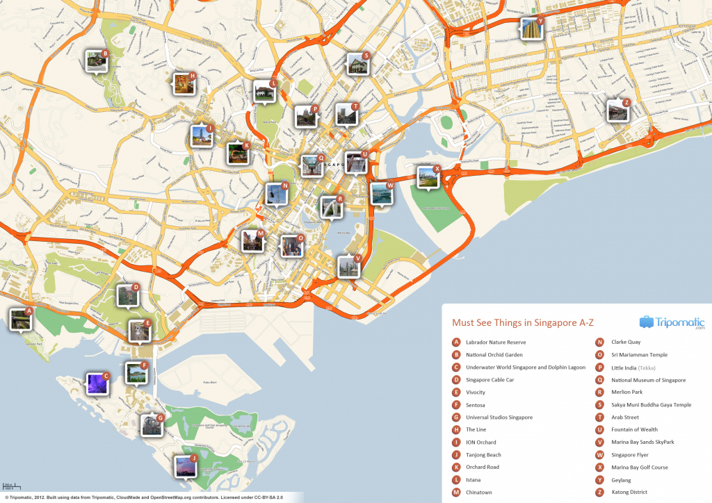 File:singapore Printable Tourist Attractions Map - Wikimedia Commons pertaining to Printable Map Of Singapore