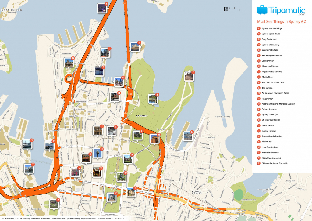 File:sydney Printable Tourist Attractions Map - Wikimedia Commons throughout Sydney Tourist Map Printable