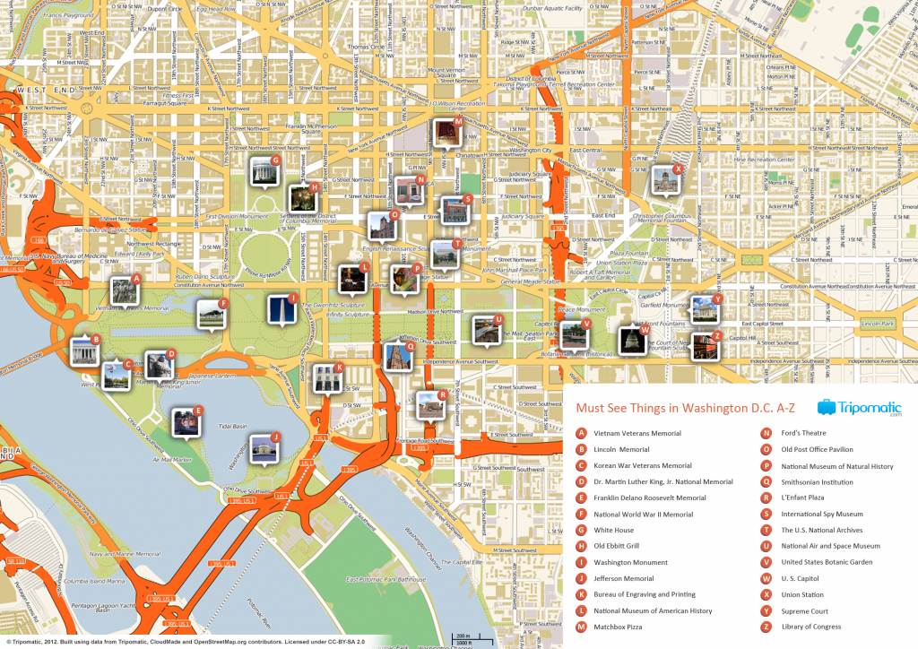 File:washington Dc Printable Tourist Attractions Map - Wikimedia within Printable Map Of Washington Dc