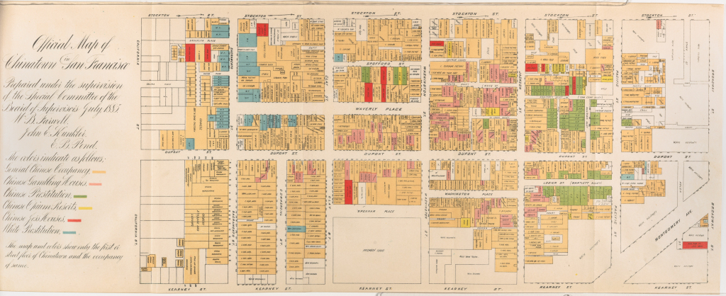 File:willard B. Farwell, Official Map Of Chinatown 1885, Cornell Cul pertaining to Printable Map Of Chinatown San Francisco