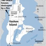Fire Destroys Two Homes On West Side Of Vashon Island | The Seattle Pertaining To Vashon Island Map Printable
