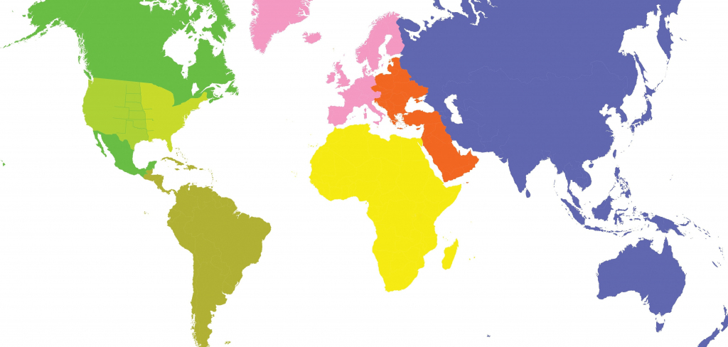 Flat World Map - World Wide Maps with regard to Flat Map Of World Printable