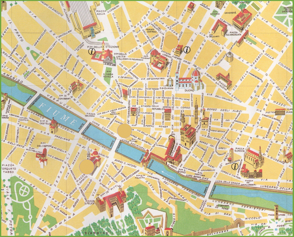Florence City Centre Map with regard to Printable Map Of Florence Italy