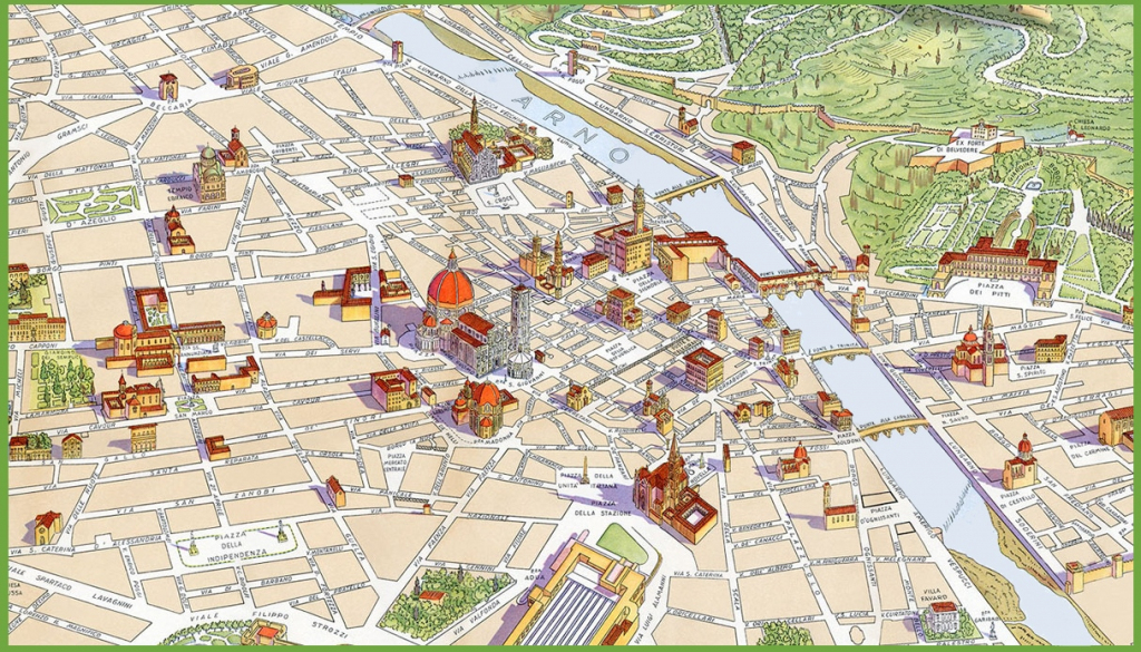 Florence Maps | Italy | Maps Of Florence (Firenze) pertaining to Florence City Map Printable