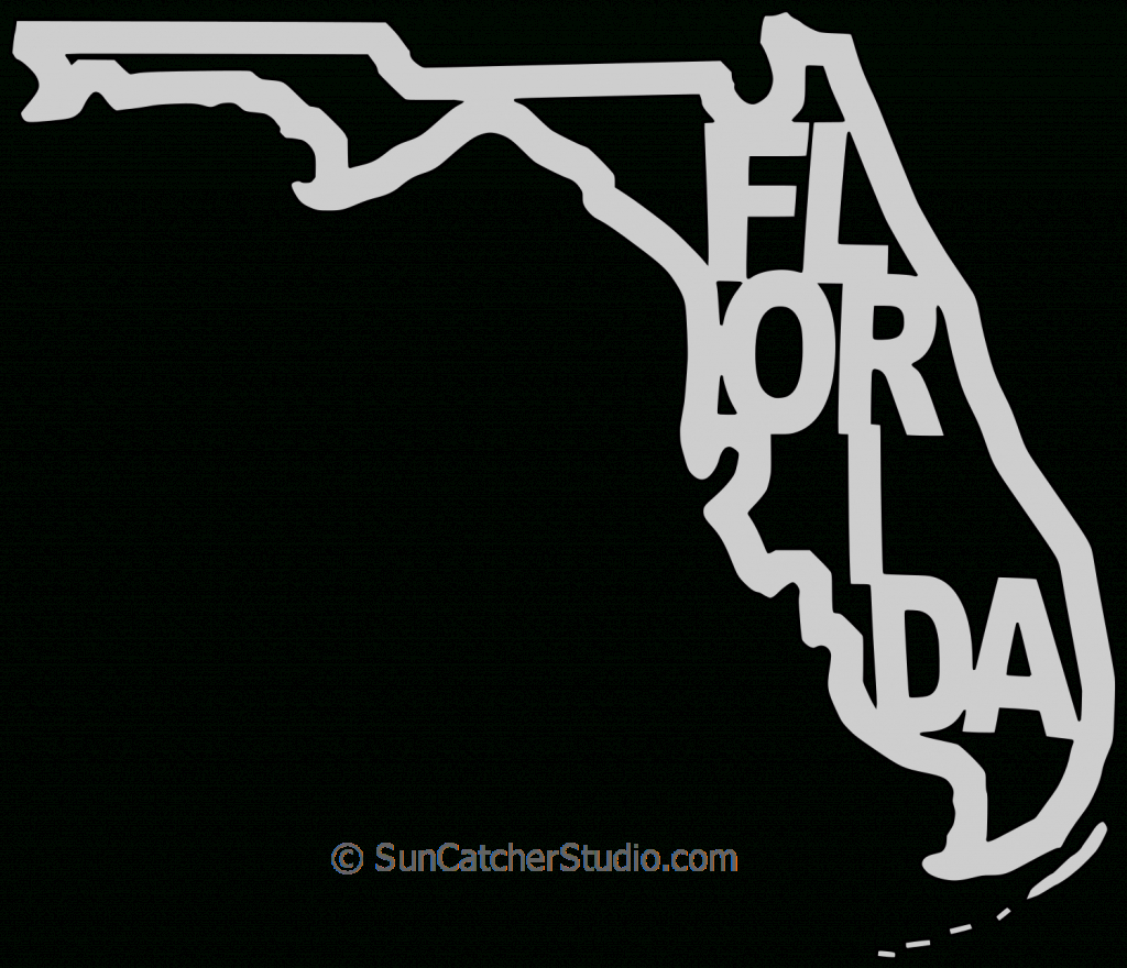Florida – Map Outline, Printable State, Shape, Stencil, Pattern with regard to Florida Map Outline Printable