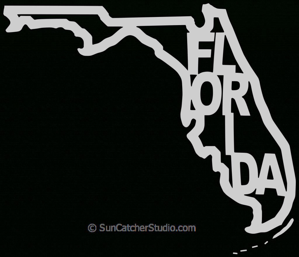 Florida – Map Outline, Printable State, Shape, Stencil, Pattern with regard to Florida Map Outline Printable