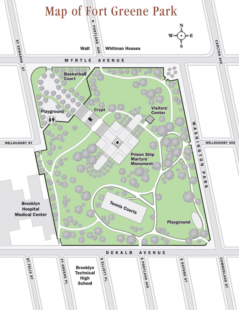 Fort Greene Park Map - Fort Greene Park Brooklyn Ny • Mappery in Prospect Park Map Printable