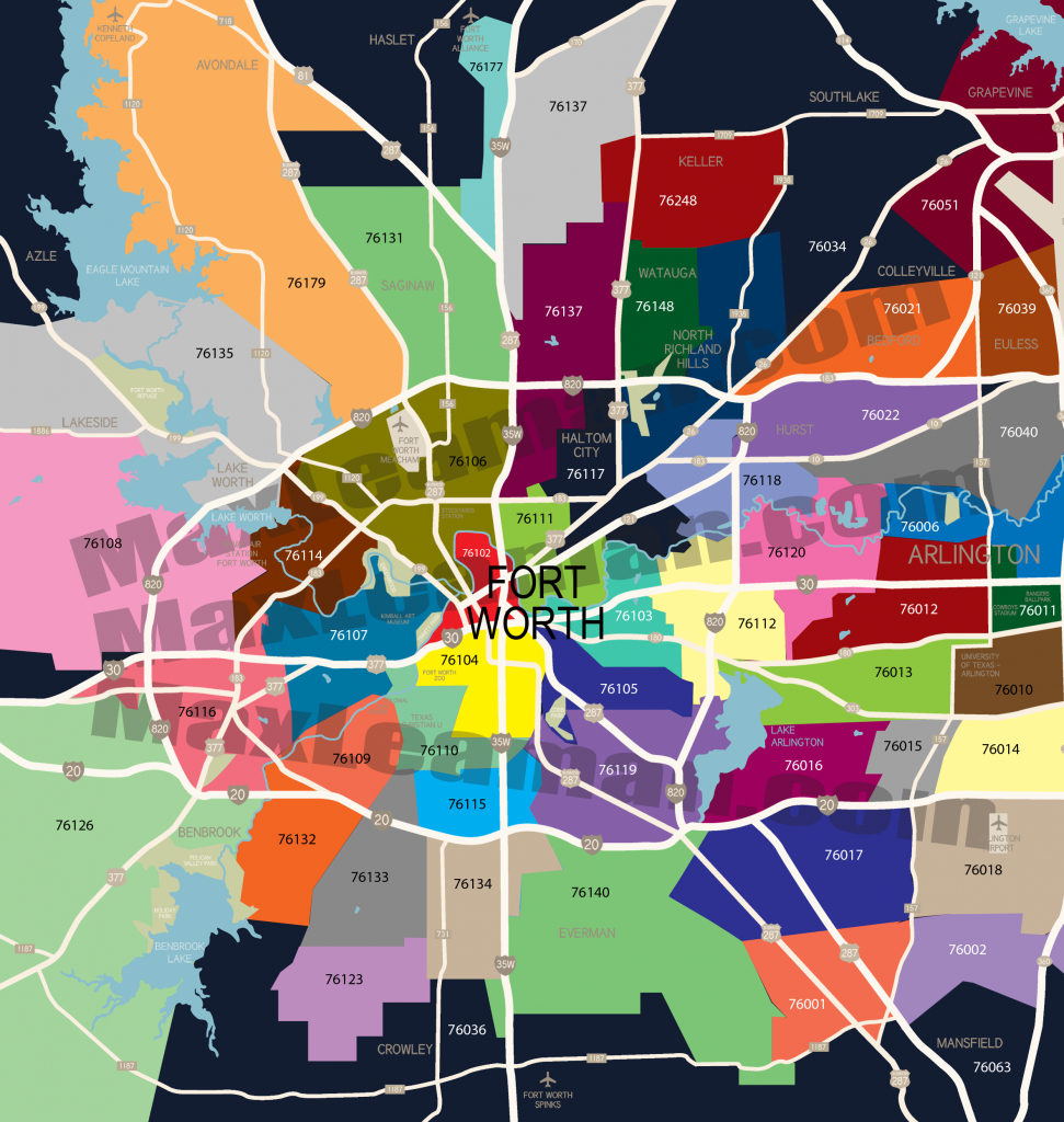 Fort Worth Zip Code Map ~ Afp Cv within Dallas Zip Code Map Printable