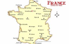Printable Map Of France With Cities
