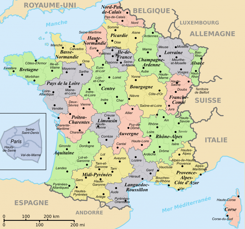 France Maps | Maps Of France throughout Printable Map Of France Regions
